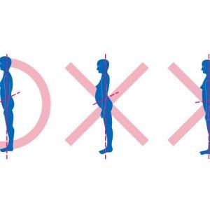腰痛を改善するには姿勢を正すこと。